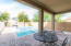 Sit in the shade and enjoy the kids shallow entry to the 6 ft pool.
