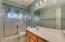 Guest bath with large counters.