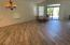 Tile plank wood looking floors add a lot of charm to the great room.