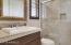 Casita Bathroom with Walk In Shower and Walk In Closet
