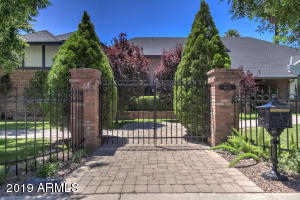 View of gated entrance to Estate