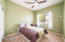 all bedrooms with ceiling fans and over head lights