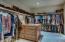 View of Master Suite Walkin Closet