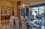 Breakfast Area with Modern Lighting