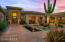 Front Entry Courtyard with Beautiful Cactus and Water Feature.
