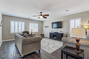 Spacious Family Room with New Wood Flooring