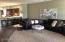 Extra Large Living Room area with upgraded and updated wood laminate flooring