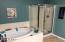 Upgraded Garden Tub with Separate shower, Huge Master Bath ensuite