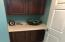 Guest Bathroom extra vanity storage area