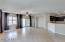 Spacious tiled great room/family room.