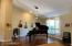 Formal dining is current the piano room