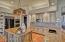 Subzero refrigerator, double ovens