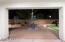 Night view of the backyard