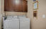 Laundry Room with built-in cabinetry