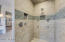 Enormous master shower, double everything.