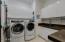 Generous storage in laundry room