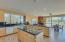 Large Open Kitchen with Island and Breakfast Bar Seating