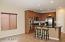 Gourmet kitchen with double wall ovens & stainless steel appliances