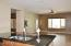 Center island breakfast bar with stainless steel sink & beautiful granite counter tops