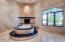 giant master bath with push button gas fireplace