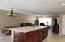 Huge kitchen island with pendant light pre-wire awaiting your personal touch!