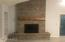 Gas fireplace with brand new custom brick and mantel