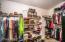 Huge master closet.