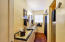 Historic charm of hall bath preserved, separate tub and shower