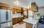 Tiled floor galley kitchen