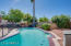 Pool with view of RV gates and RV parking