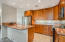 Beautiful cabinetry in this spacious kitchen