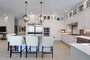Stunning New Kitchen w/ Double Stack Lighted Cabinets