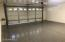 Fresh epoxy paint! Nice CLEAN garage in your new home!