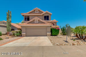 Wonderfully private, corner lot with views of the McDowell Mountains!