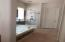 Modern updated master bathroom with separate shower and shower