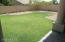 Flat grassy play area