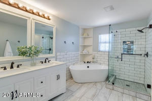 Completely updated master bathroom