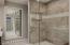 Gorgeous master shower, marble floors