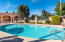 Community pool is walking distance from the townhome.