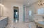 Master bath- high end Italian marble floor and shower