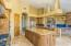 Kitchen flows to Large Family Room
