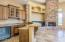 Wet Bar with Extensive Storage and Appliances