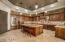 Magnificent kitchen with a large island and breakfast bar