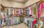 His and hers closets