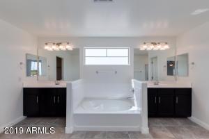 Split vanities in Master suite