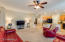 Spacious Family Room opens nicely to the Lovely Kitchen area. Prewired for Surround Sound.