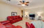 Oversized Family Room. Prewired for Surround Sound. Private Alcove leads to Master Bedroom Retreat. Fans Throughout.