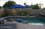Pool with views of Camelback Mountain. Pool lighting and waterfall