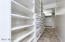 Bonus downstairs custom built-in storage & closet