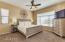 Master Bedroom with huge walk in closet